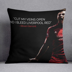 Steven Gerrard Liverpool Red Cushion