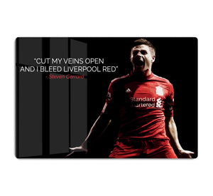 Steven Gerrard Liverpool Red HD Metal Print
