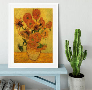 Still Life Vase with Fifteen Sunflowers 2 by Van Gogh Framed Print - Canvas Art Rocks - 5