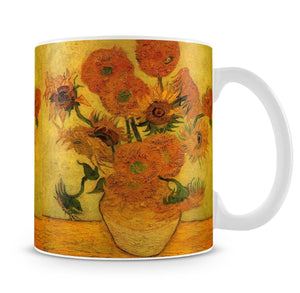 Still Life Vase with Fifteen Sunflowers 2 by Van Gogh Mug - Canvas Art Rocks - 4