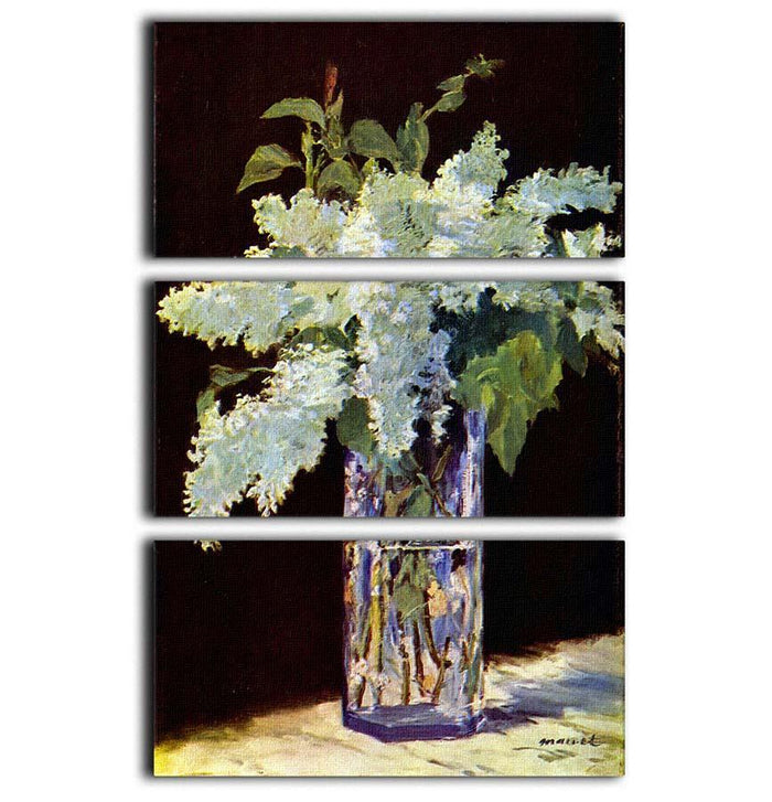 Still Life by Manet 3 Split Panel Canvas Print