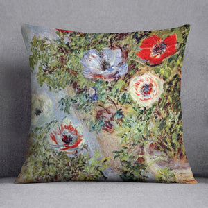 Still Life with Anemones by Monet Cushion