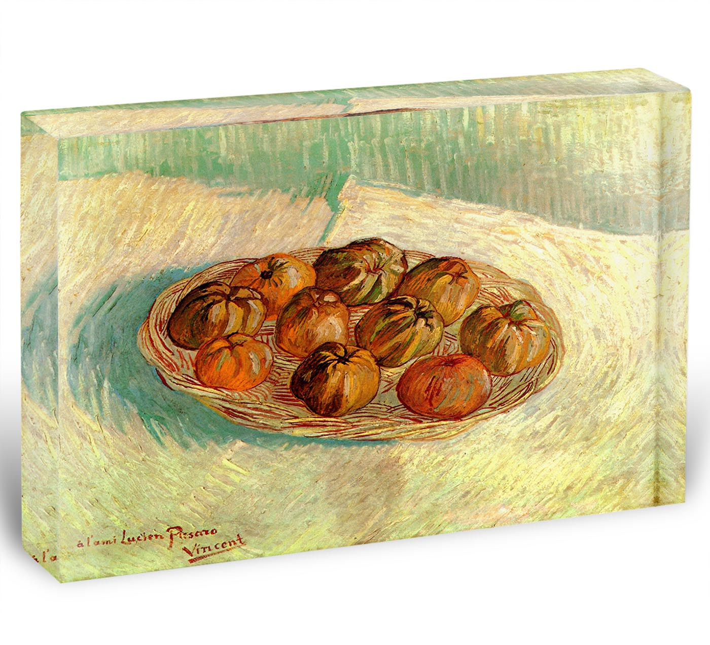 Block With Pissarro Basket Acrylic By Life Apples Lucien Gogh Still Van To Of 6yYbg7f