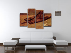Still Life with Bloaters and Garlic by Van Gogh 4 Split Panel Canvas - Canvas Art Rocks - 3