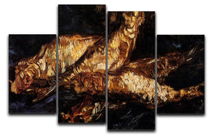 Still Life with Bloaters by Van Gogh 4 Split Panel Canvas  - Canvas Art Rocks - 1