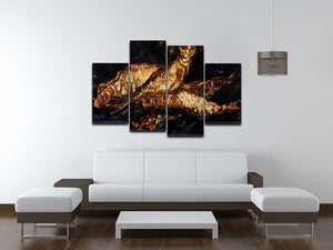 Still Life with Bloaters by Van Gogh 4 Split Panel Canvas - Canvas Art Rocks - 3