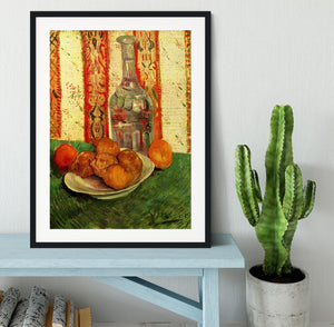 Still Life with Decanter and Lemons on a Plate by Van Gogh Framed Print - Canvas Art Rocks - 1