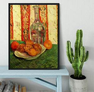 Still Life with Decanter and Lemons on a Plate by Van Gogh Framed Print - Canvas Art Rocks - 2