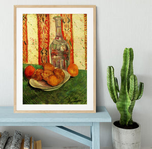 Still Life with Decanter and Lemons on a Plate by Van Gogh Framed Print - Canvas Art Rocks - 3