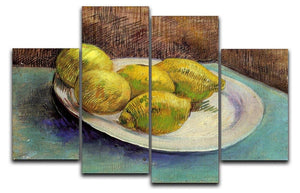 Still Life with Lemons on a Plate by Van Gogh 4 Split Panel Canvas  - Canvas Art Rocks - 1