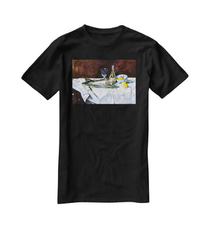 Still Life with Salmon by Manet T-Shirt - Canvas Art Rocks - 1
