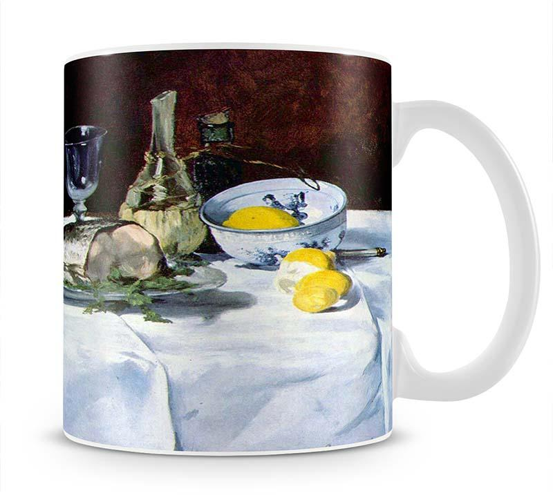 Still Life with Salmon by Manet Mug - Canvas Art Rocks - 1