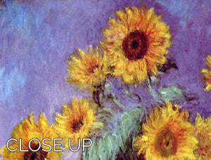 Still Life with Sunflowers by Monet 3 Split Panel Canvas Print - Canvas Art Rocks - 3
