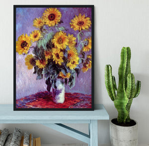 Still Life with Sunflowers by Monet Framed Print - Canvas Art Rocks - 2