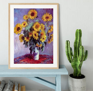 Still Life with Sunflowers by Monet Framed Print - Canvas Art Rocks - 3