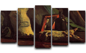 Still Life with Two Sacks and a Bottl by Van Gogh 5 Split Panel Canvas  - Canvas Art Rocks - 1