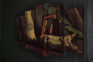Still Life with Two Sacks and a Bottl by Van Gogh 5 Split Panel Canvas - Canvas Art Rocks - 2