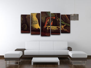 Still Life with Two Sacks and a Bottl by Van Gogh 5 Split Panel Canvas - Canvas Art Rocks - 3