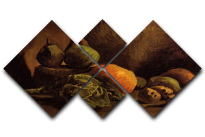 Still Life with Vegetables and Fruit by Van Gogh 4 Square Multi Panel Canvas  - Canvas Art Rocks - 1