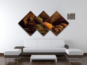 Still Life with Vegetables and Fruit by Van Gogh 4 Square Multi Panel Canvas - Canvas Art Rocks - 3