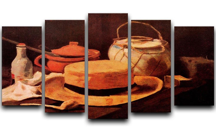 Still Life with Yellow Straw Hat by Van Gogh 5 Split Panel Canvas