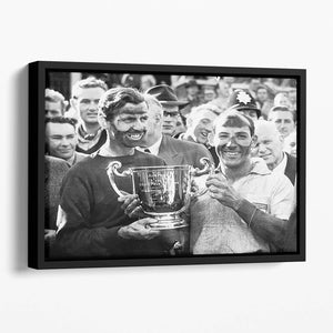 Stirling Moss and his Vanwall team mate Tony Brooks Floating Framed Canvas