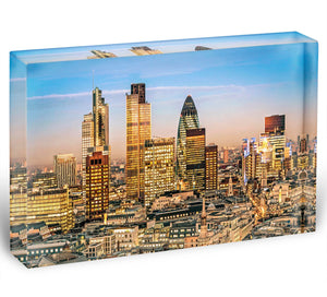 Stock Exchange Tower and Lloyds of London Acrylic Block - Canvas Art Rocks - 1