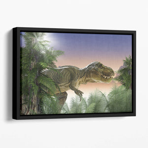 Stock Photo dinosaur Floating Framed Canvas