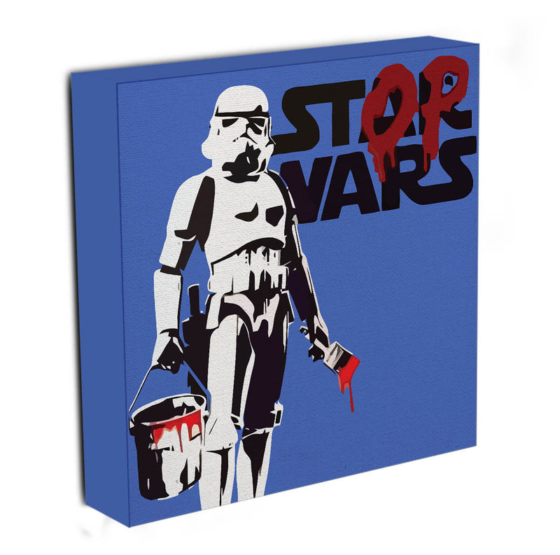 Banksy Stop Wars Star Wars Canvas Print & Poster - Canvas Art Rocks