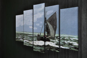 Storm by Monet 5 Split Panel Canvas - Canvas Art Rocks - 2