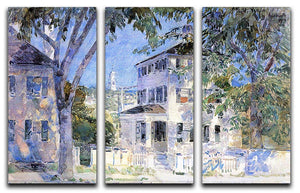 Street in Portsmouth by Hassam 3 Split Panel Canvas Print - Canvas Art Rocks - 1