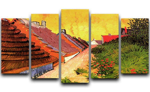Street in Saintes-Maries by Van Gogh 5 Split Panel Canvas  - Canvas Art Rocks - 1