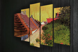 Street in Saintes-Maries by Van Gogh 5 Split Panel Canvas - Canvas Art Rocks - 2