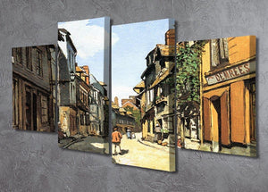 Street of Bavolle by Monet 4 Split Panel Canvas - Canvas Art Rocks - 2