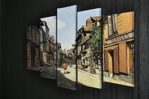 Street of Bavolle by Monet 5 Split Panel Canvas - Canvas Art Rocks - 2