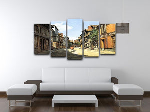 Street of Bavolle by Monet 5 Split Panel Canvas - Canvas Art Rocks - 3