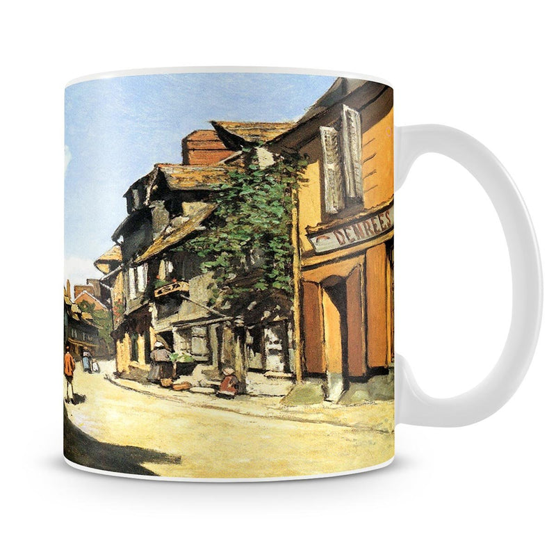 Street of Bavolle by Monet Mug - Canvas Art Rocks - 4
