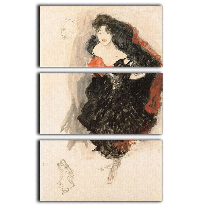 Study for Judith II by Klimt 3 Split Panel Canvas Print
