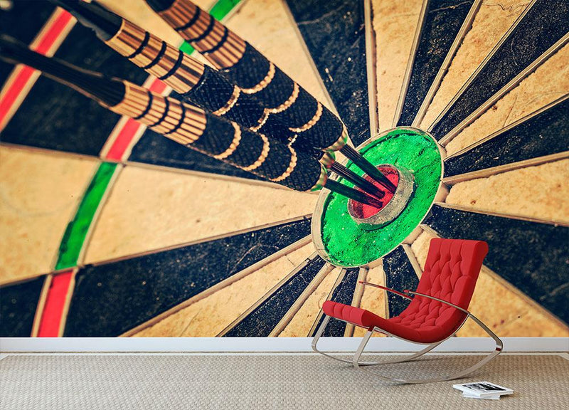 Success hitting target Wall Mural Wallpaper - Canvas Art Rocks - 1