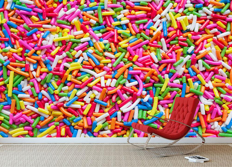 Sugar sprinkle dots Wall Mural Wallpaper - Canvas Art Rocks - 1