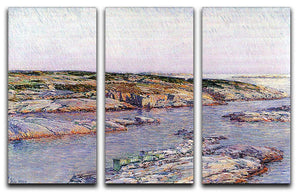 Summer afternoon the Isles of Shoals by Hassam 3 Split Panel Canvas Print - Canvas Art Rocks - 1