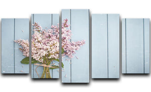 Summer gentle bouquet of lilac flowers 5 Split Panel Canvas  - Canvas Art Rocks - 1