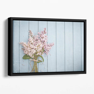 Summer gentle bouquet of lilac flowers Floating Framed Canvas