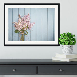 Summer gentle bouquet of lilac flowers Framed Print - Canvas Art Rocks - 1