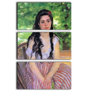 Summertime study by Renoir 3 Split Panel Canvas Print - Canvas Art Rocks - 1