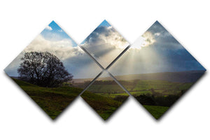 Sunlight on the Lake District 4 Square Multi Panel Canvas - Canvas Art Rocks - 1