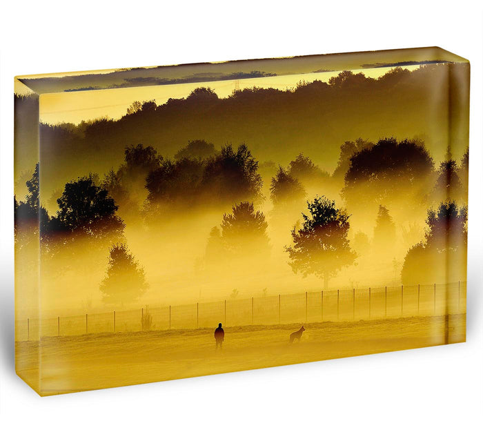 Sunrise and Mist Acrylic Block