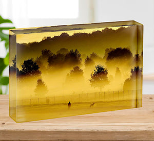 Sunrise and Mist Acrylic Block - Canvas Art Rocks - 2