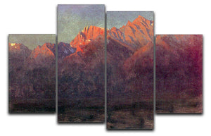 Sunrise in the Sierras by Bierstadt 4 Split Panel Canvas - Canvas Art Rocks - 1
