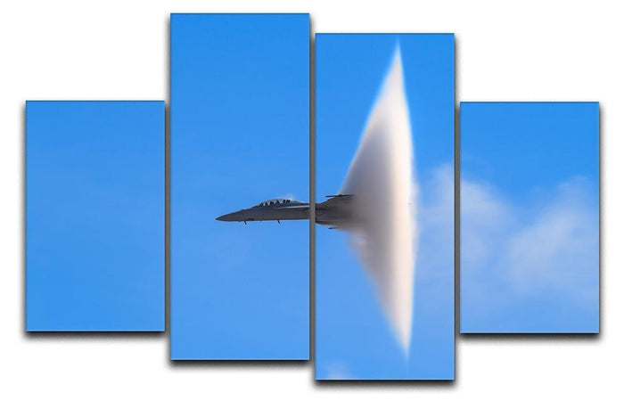 Super Hornet with transonic vapor cone 4 Split Panel Canvas